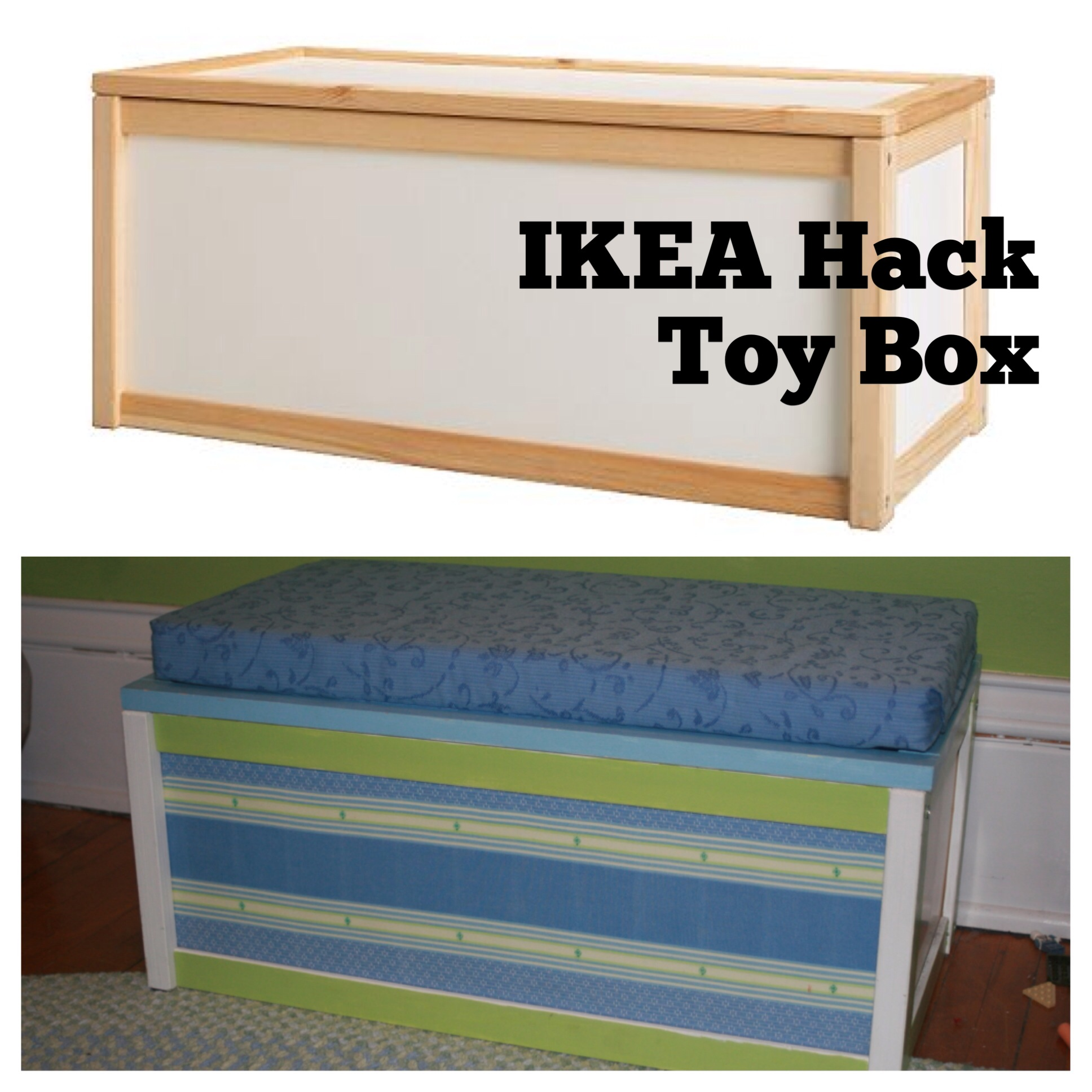ikea hack toy box style snapshot